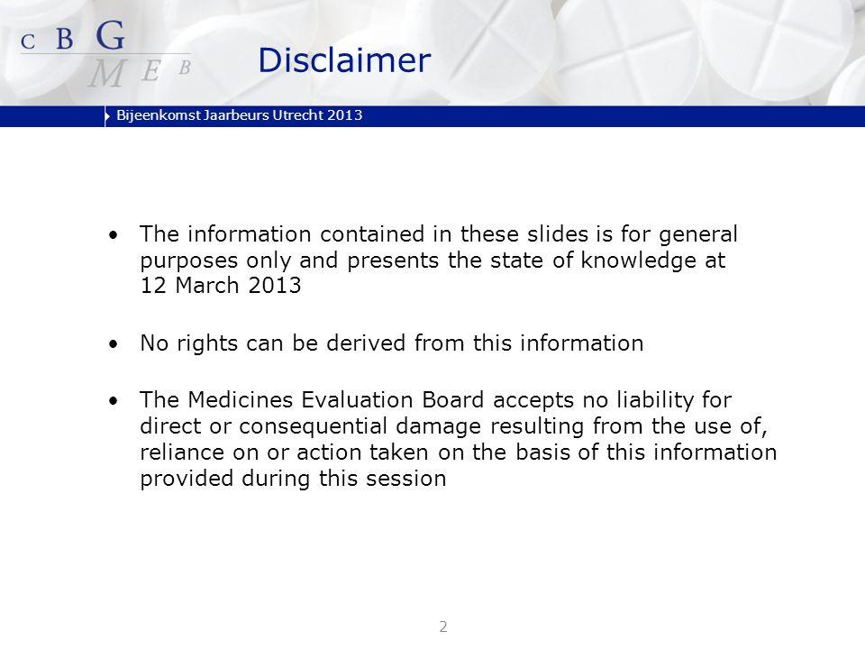 Bijeenkomst Jaarbeurs Utrecht 2013 1.Introduction 2.PSUR and RMP 3.Reporting of suspected Adverse Drug Reactions 4.Art 57(2) / IDMP 5.Closure