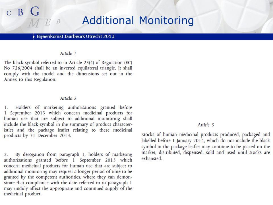 Bijeenkomst Jaarbeurs Utrecht 2013 Additional Monitoring