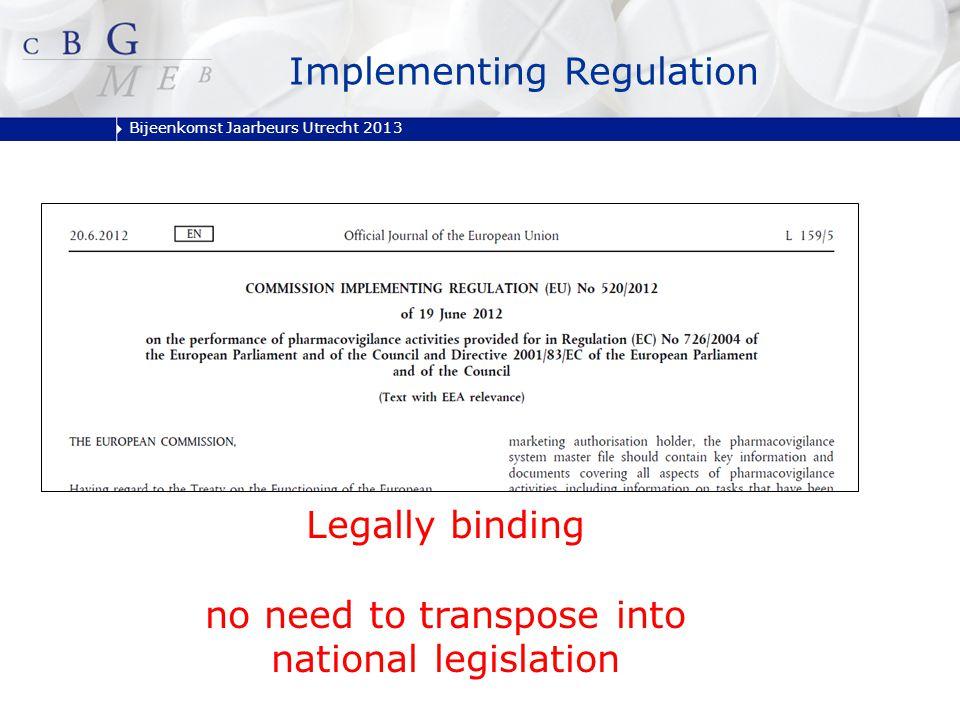 Bijeenkomst Jaarbeurs Utrecht 2013 1.Introduction 2.PSUR and RMP 3.PASS 4.Reporting of suspected Adverse Drug Reactions 5.Art 57(2) 6.Closure