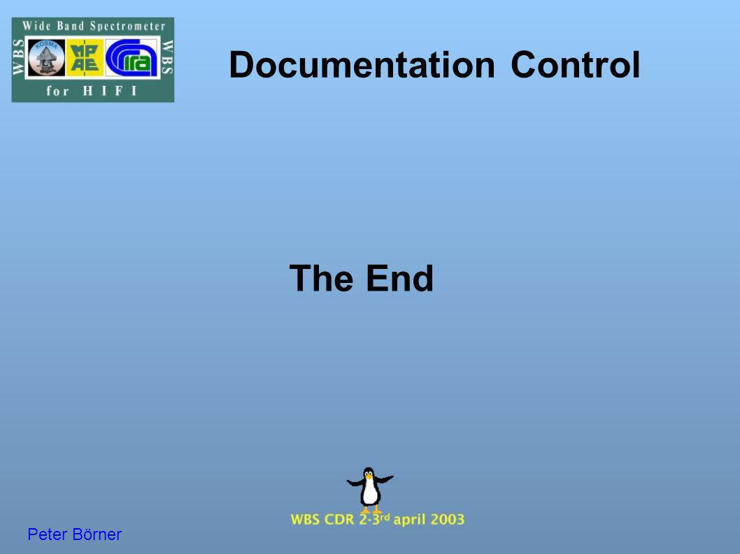 Documentation Control The End Peter Börner