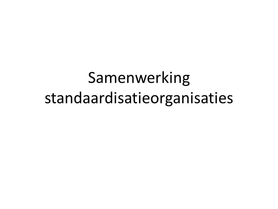 Samenwerking standaardisatieorganisaties