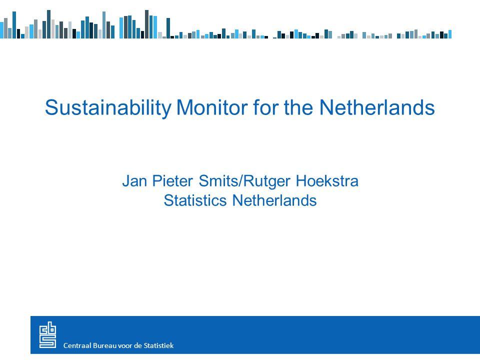 Sustainability Monitor for the Netherlands Jan Pieter Smits/Rutger Hoekstra Statistics Netherlands Centraal Bureau voor de Statistiek