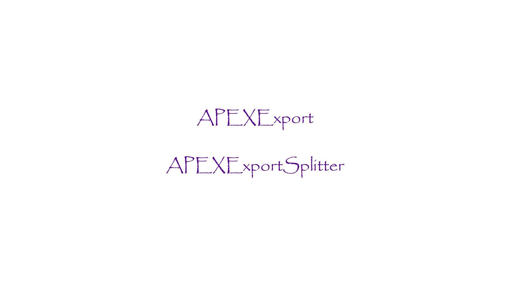APEXExport APEXExportSplitter