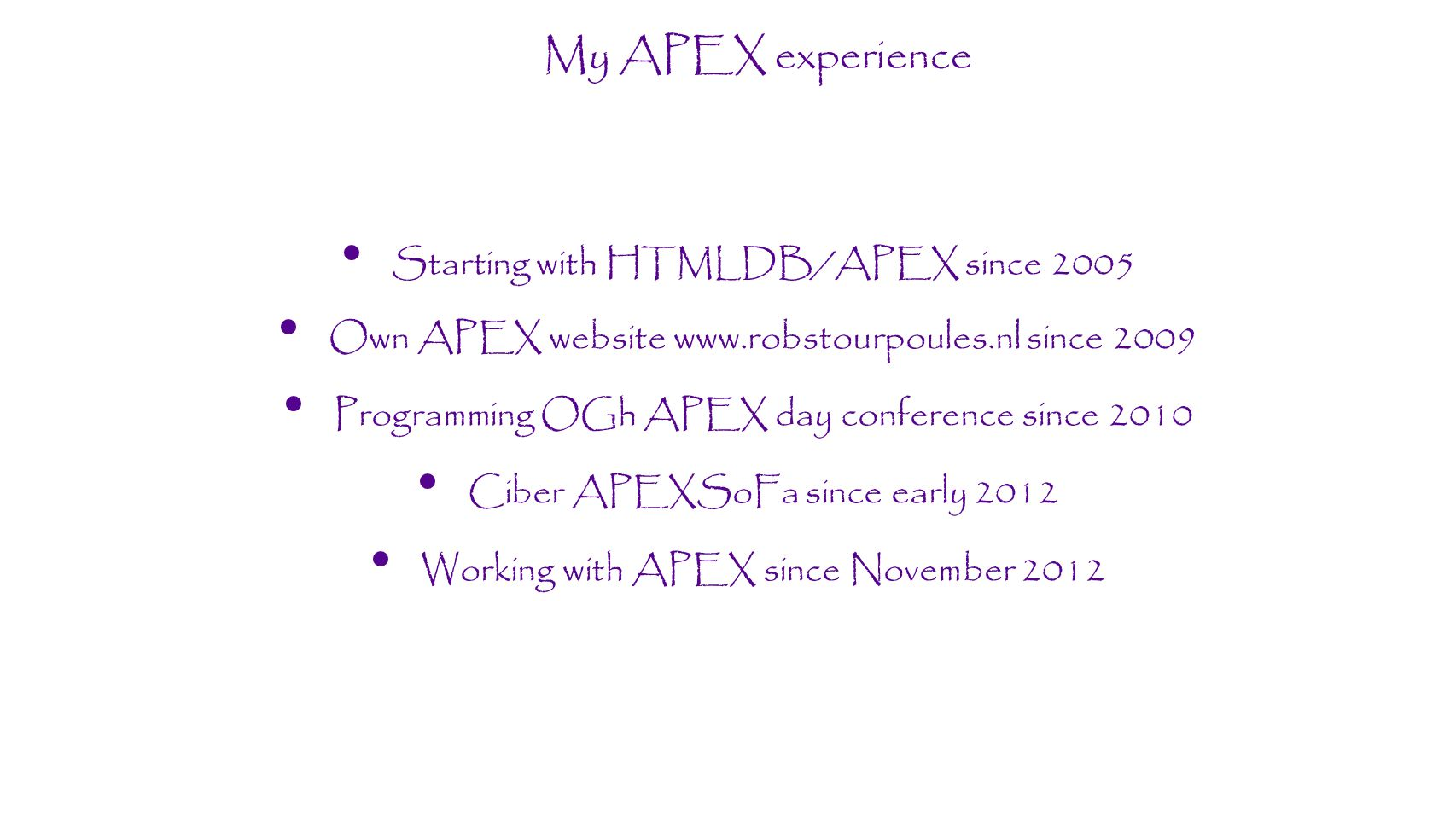 META schema SQL> desc meta.mta_admin...FUNCTION APEX_ID_OFFSET RETURNS NUMBER(20) Argument Name Type In/Out Default.