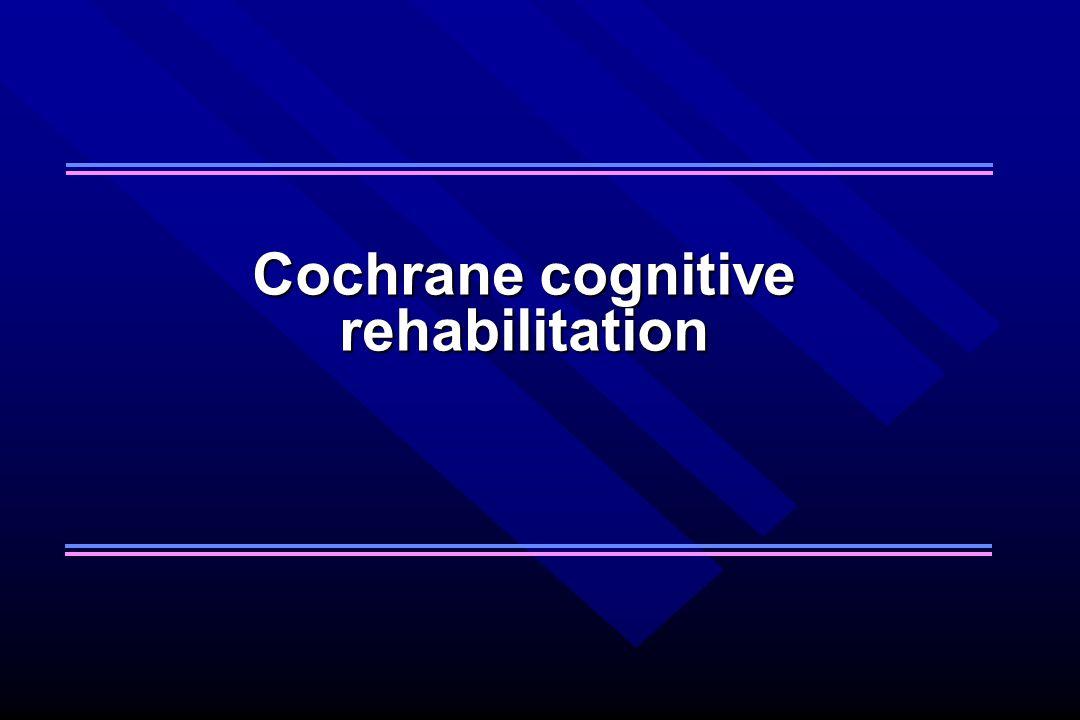 Cochrane cognitive rehabilitation