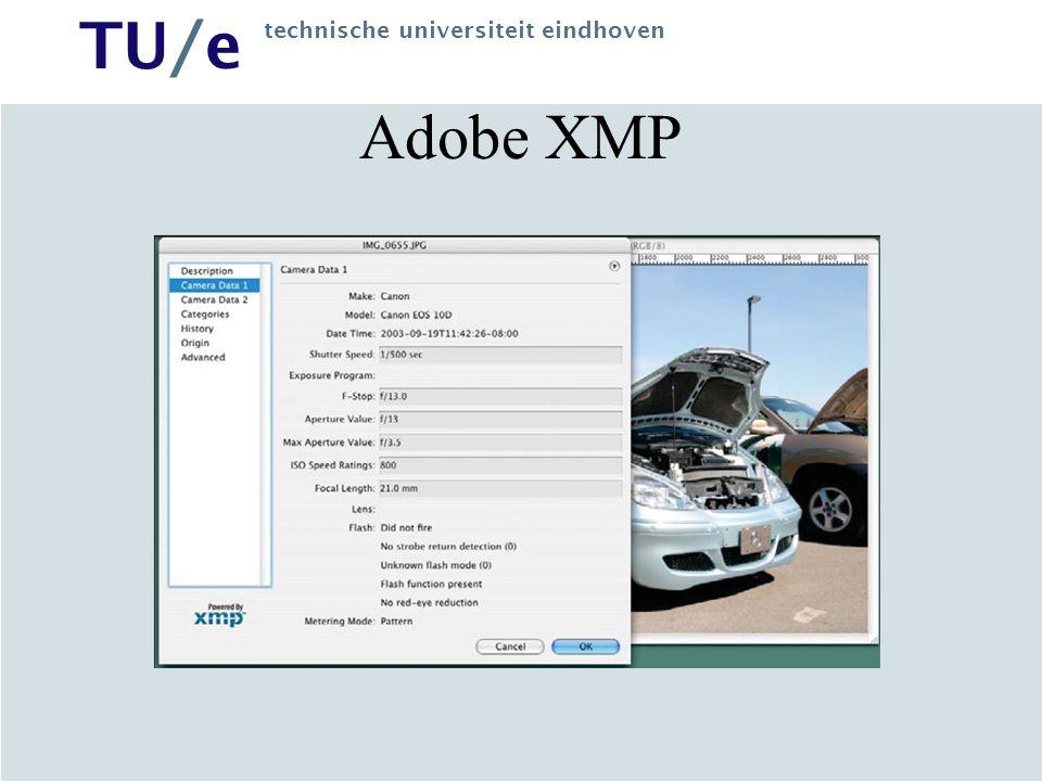 TU/e technische universiteit eindhoven Adobe XMP