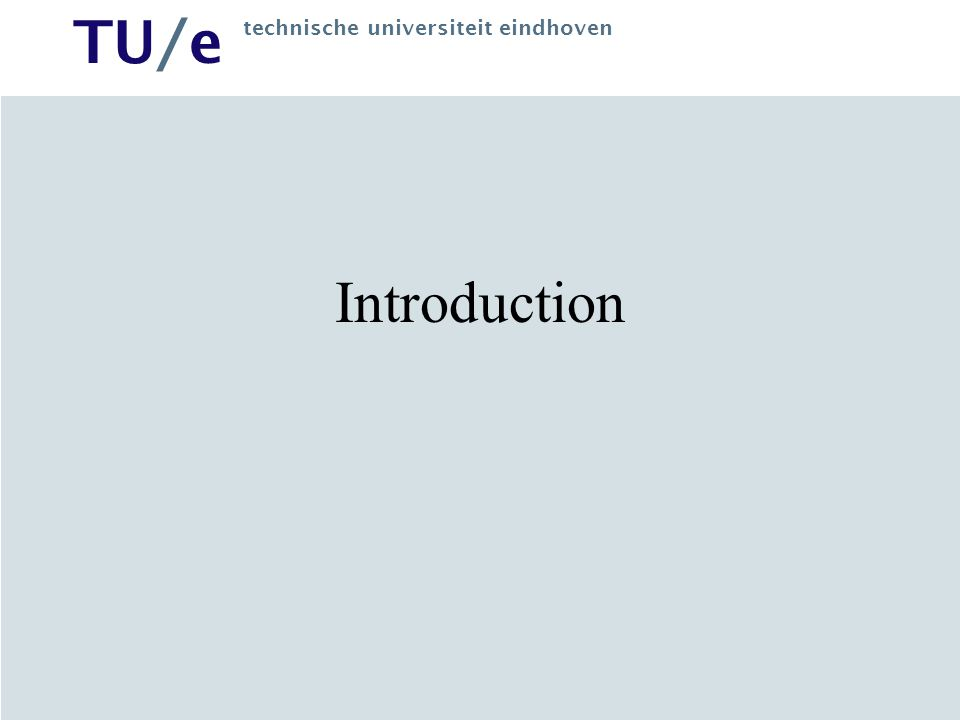 TU/e technische universiteit eindhoven Why Semantic Web.