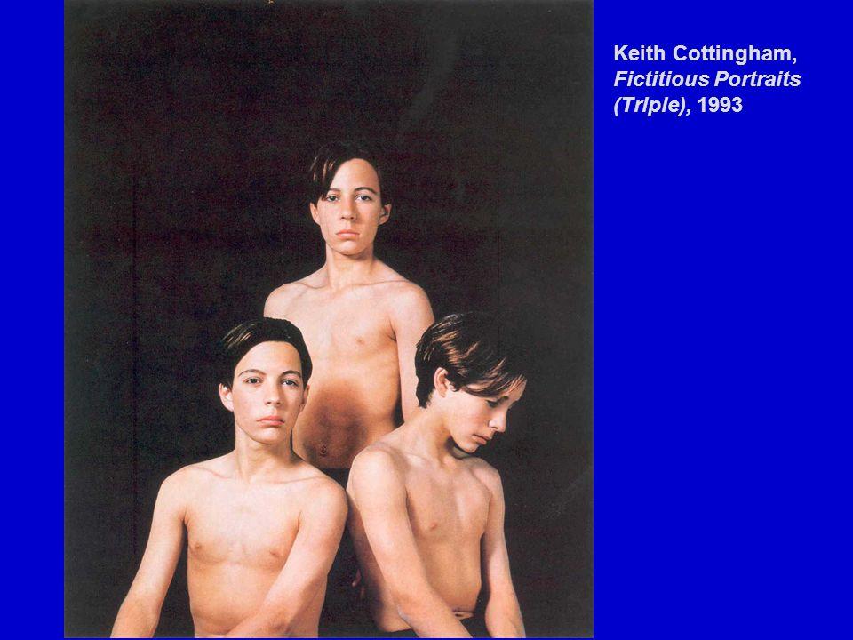 Keith Cottingham, Fictitious Portraits (Triple), 1993
