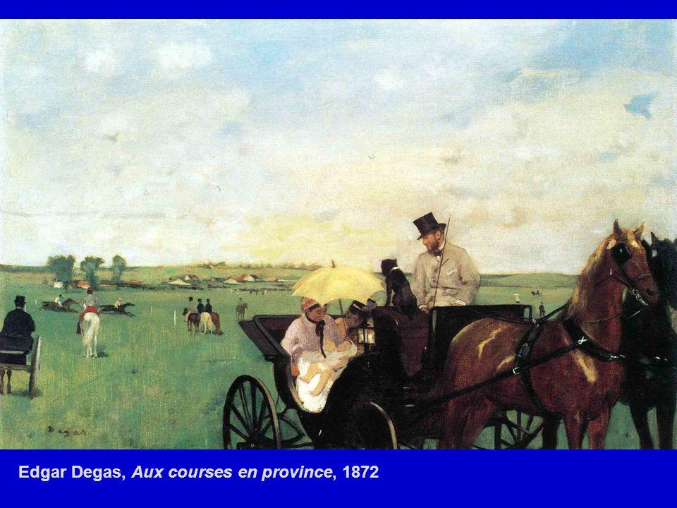 Edgar Degas, Aux courses en province, 1872