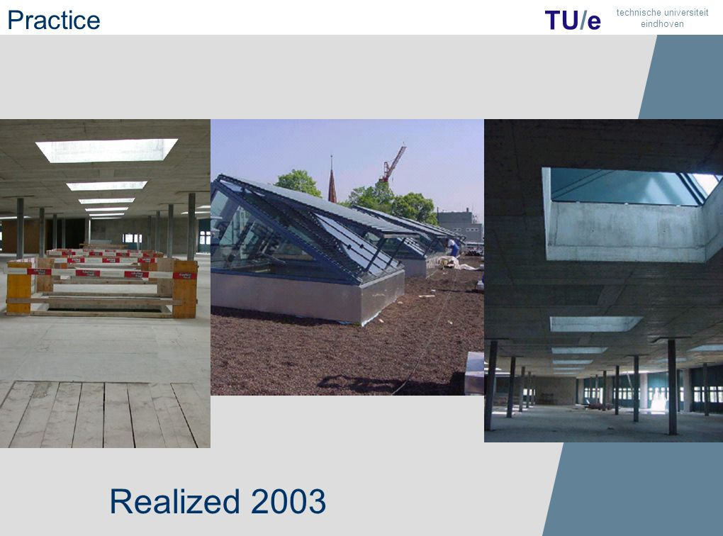 35 TU/e technische universiteit eindhoven Realized 2003 Practice
