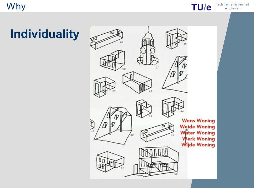 7 TU/e technische universiteit eindhoven Individuality Why