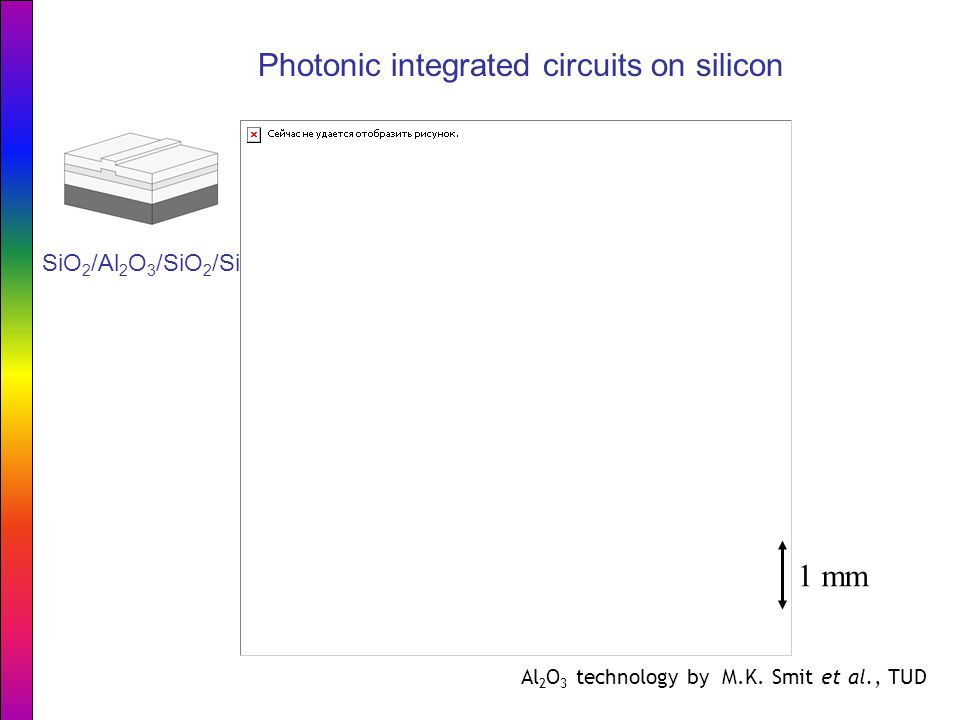 Photonic integrated circuits on silicon 1 mm SiO 2 /Al 2 O 3 /SiO 2 /Si Al 2 O 3 technology by M.K.
