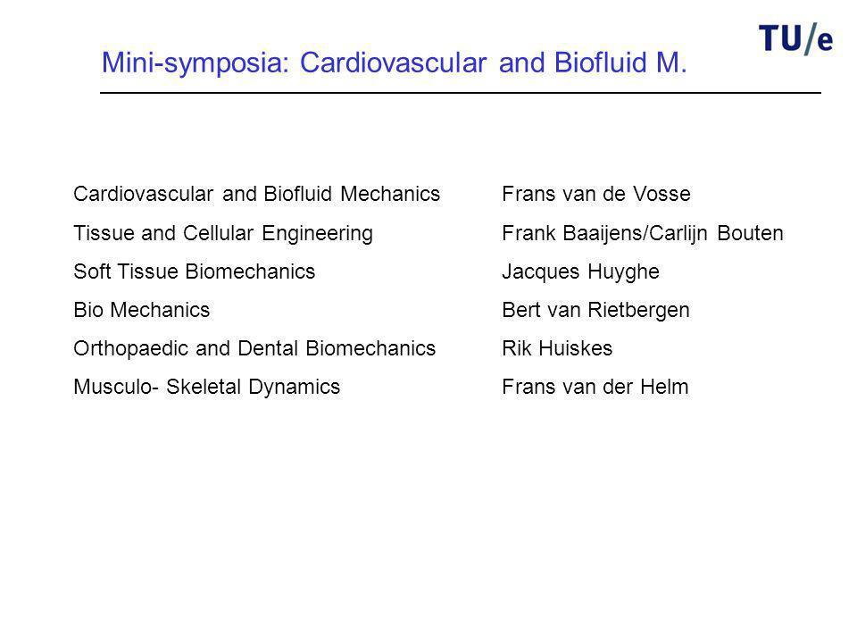 Mini-symposia: Cardiovascular and Biofluid M.