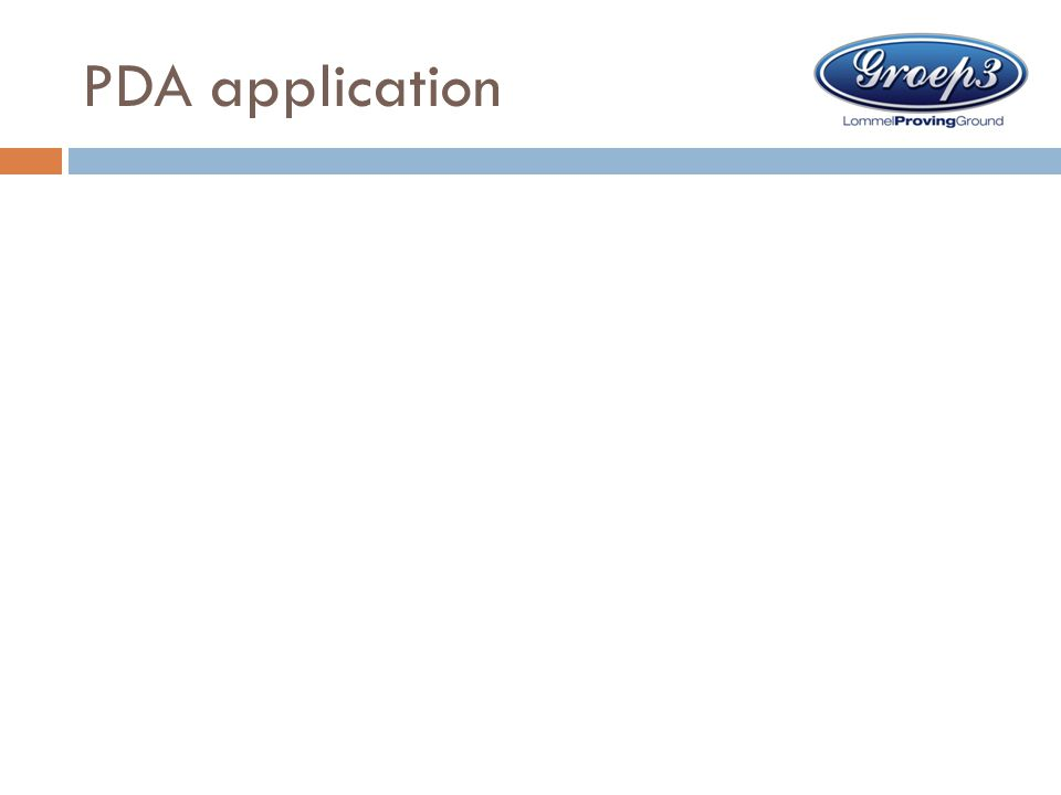 PDA application