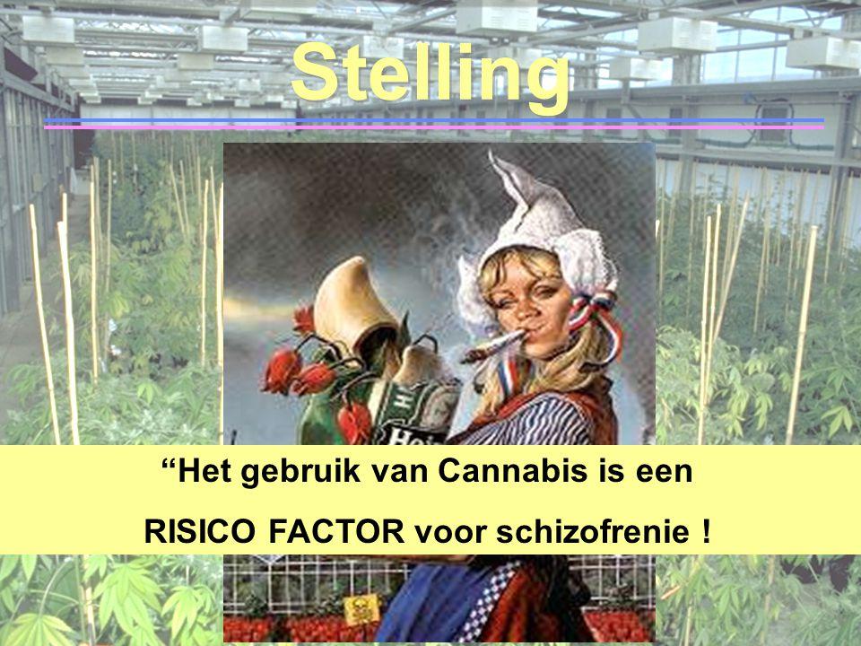 """Stelling """"Het gebruik van Cannabis is een RISICO FACTOR voor schizofrenie !"""
