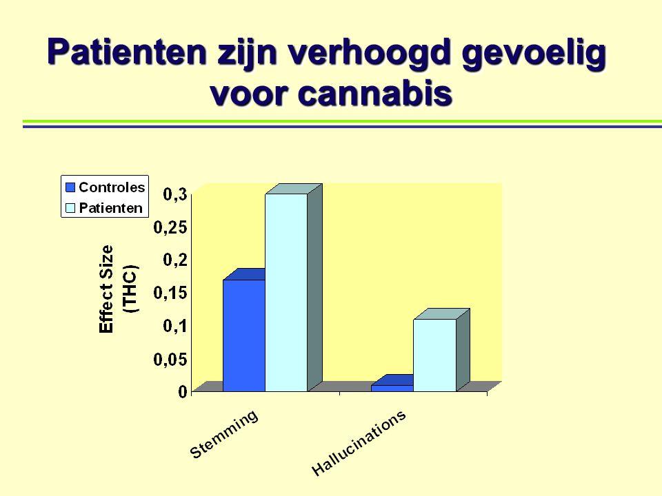 Patienten zijn verhoogd gevoelig voor cannabis Patienten zijn verhoogd gevoelig voor cannabis
