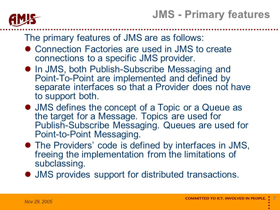 8 Nov 29, 2005 Demo Laptop Suse VM TEST.FOO ActiveMQ (14-318-962:61616) consumer producer jms api jms api Message Listener