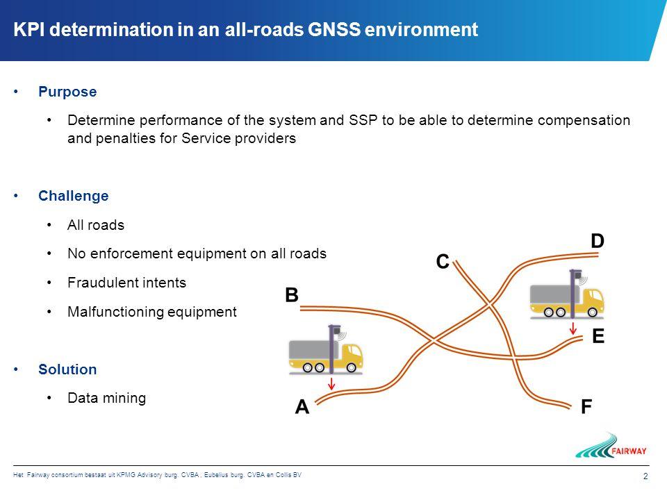 Het Fairway consortium bestaat uit KPMG Advisory burg. CVBA, Eubelius burg. CVBA en Collis BV 2 KPI determination in an all-roads GNSS environment Pur