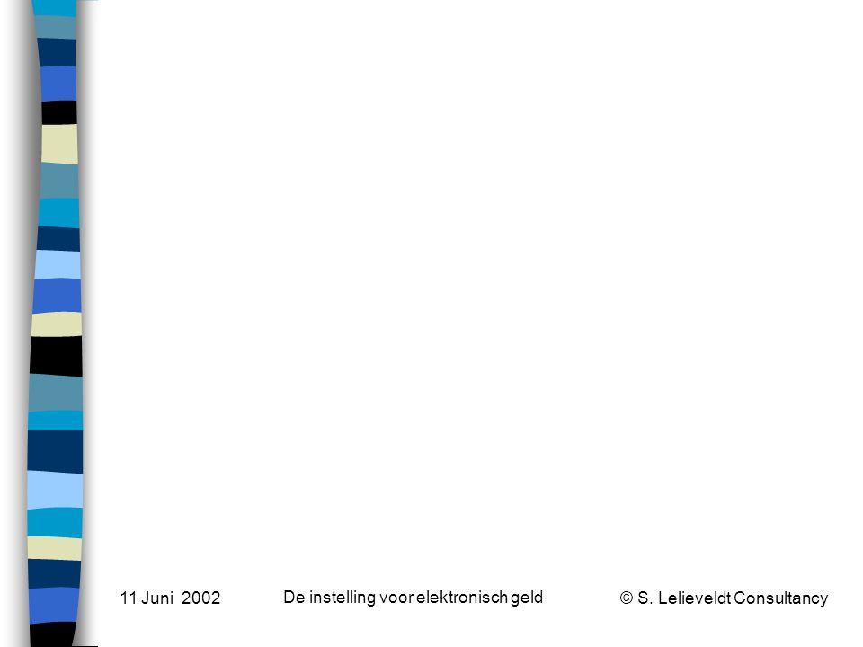 Market and regulatory developments How did we get here? 11 Juni 2002