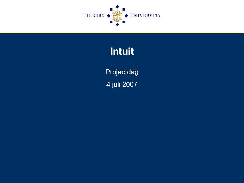 Intuit Projectdag 4 juli 2007