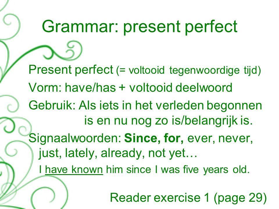 signaalwoorden present perfect