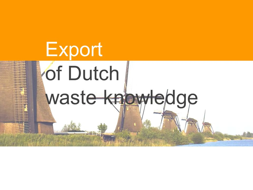 Export of Dutch waste knowledge