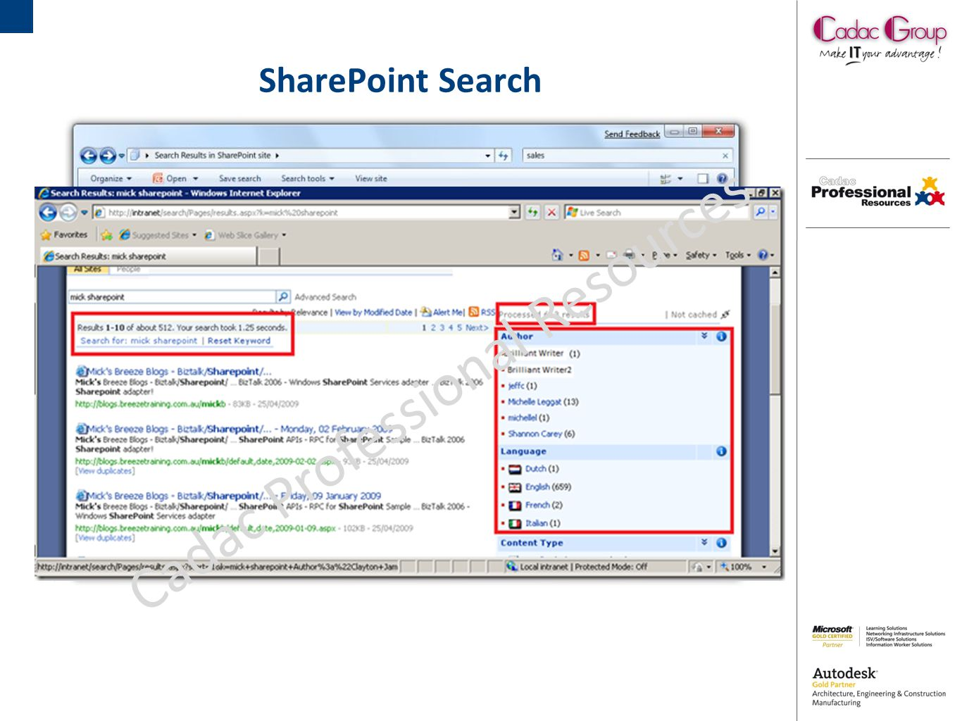 SharePoint Insights Cadac Professional Resources