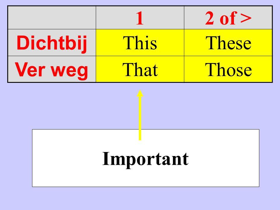 12 of > Dichtbij ThisThese Ver weg ThatThose Important
