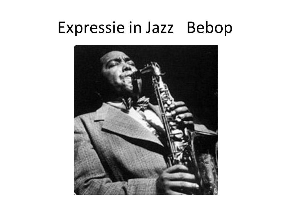 Expressie in Jazz Bebop