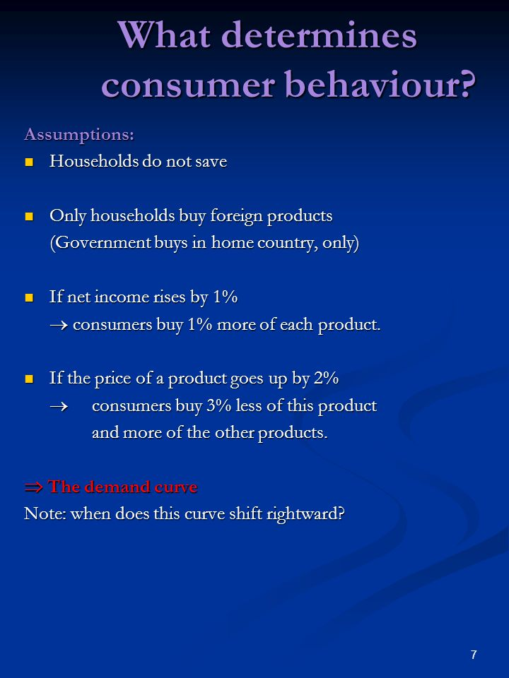 7 What determines consumer behaviour.