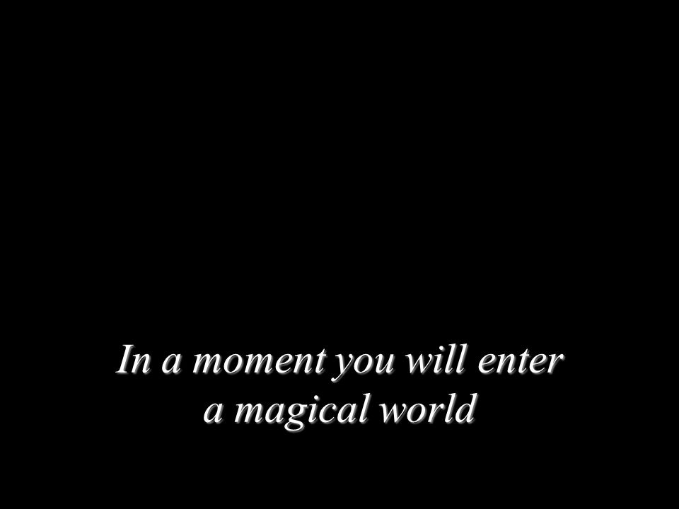 In a moment you will enter a magical world