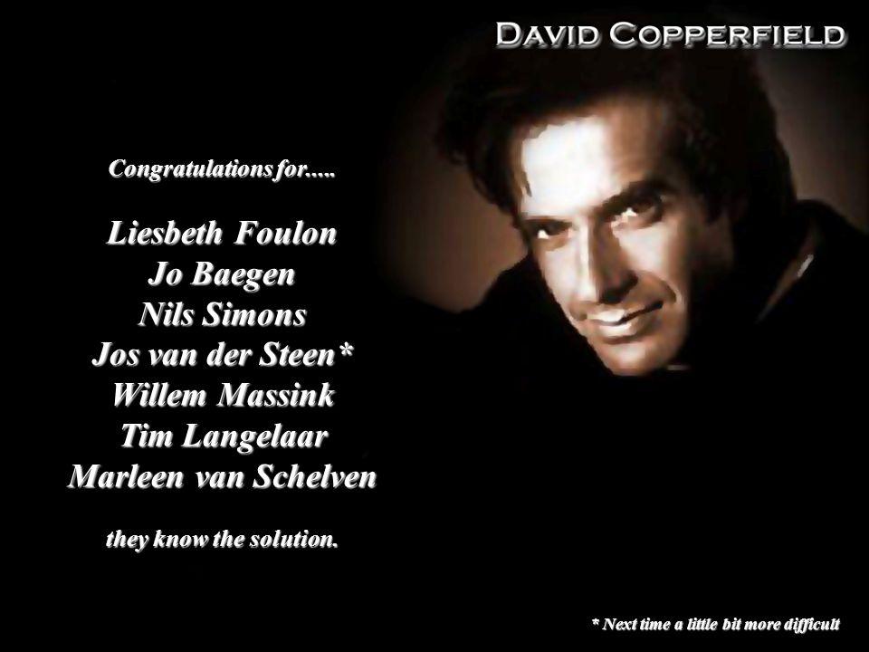 Congratulations for..... Liesbeth Foulon Jo Baegen Nils Simons Jos van der Steen* Willem Massink Tim Langelaar Marleen van Schelven they know the solu