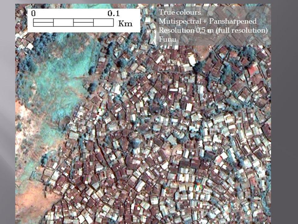 True colours Mutispectral + Pansharpened Resolution 0,5 m (subsampled) Bagira landslide