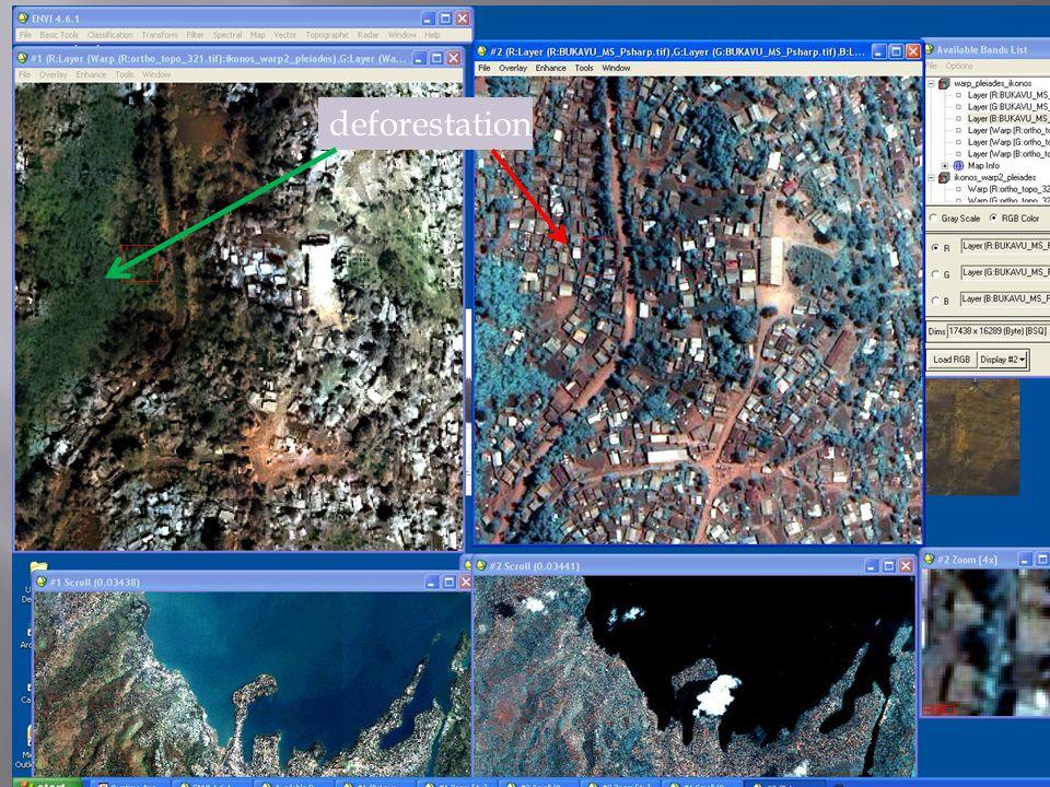 2001 2013 Evolution of built up areas, Funu, Bukavu
