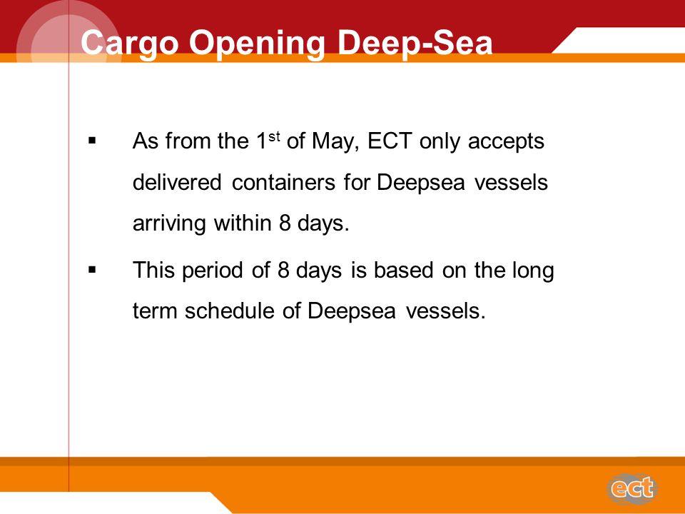 Cargo Opening Time Cargo Closing Deepsea Piet van Dijk