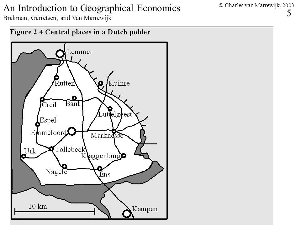© Charles van Marrewijk, An Introduction to Geographical Economics Brakman, Garretsen, and Van Marrewijk