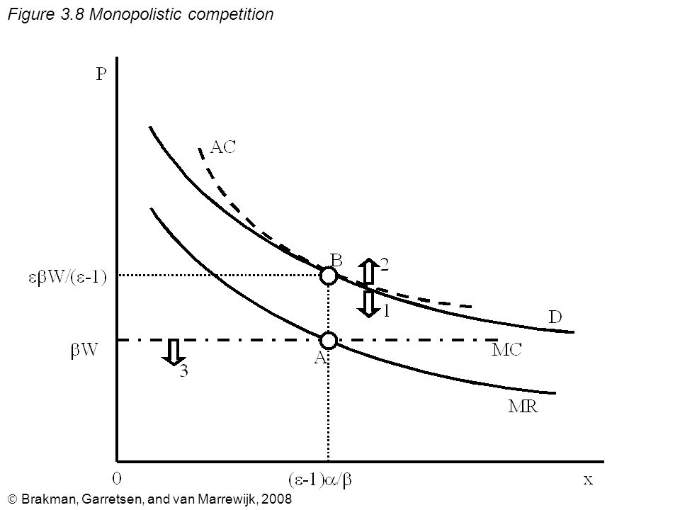  Brakman, Garretsen, and van Marrewijk, 2008 Figure 3.8 Monopolistic competition