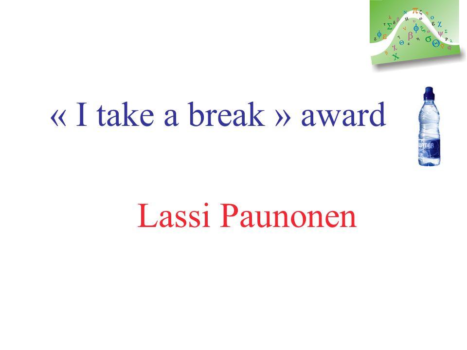 Bilingual presentation award Kaïs Ammari