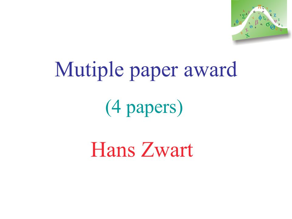 Mutiple author award (6 or 7 authors ? ) Panagiotis Christofides