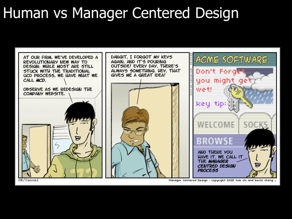 Human vs Manager Centered Design