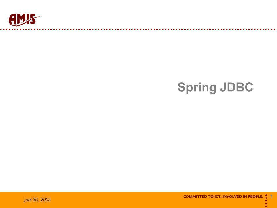 1 juni 30, 2005 Spring JDBC