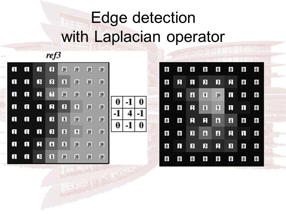 Edge detection with Laplacian operator