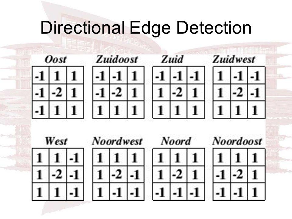 Directional Edge Detection