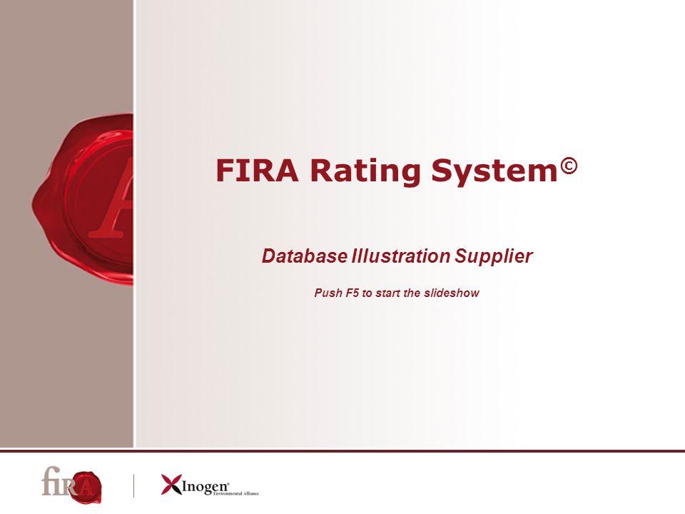 FIRA Rating System © Database Illustration Supplier Push F5 to start the slideshow