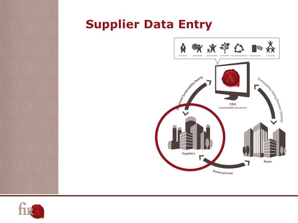 Supplier Data Entry