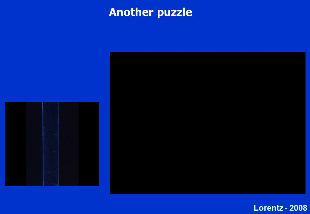 Lorentz Another puzzle