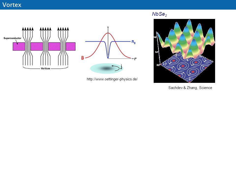 http://www.oettinger-physics.de/ Vortex NbSe 2 Sachdev & Zhang, Science