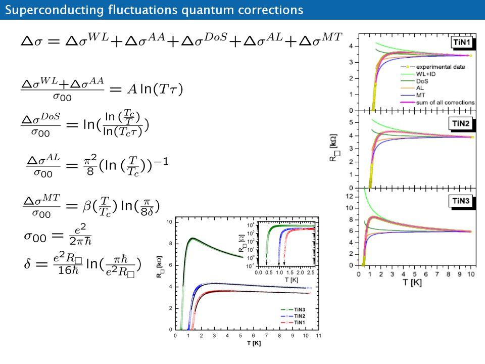 Superconducting fluctuations quantum corrections