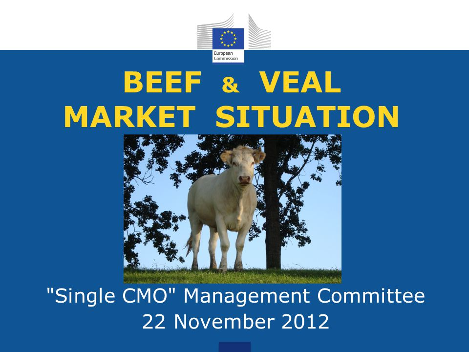 BEEF & VEAL MARKET SITUATION Single CMO Management Committee 22 November 2012