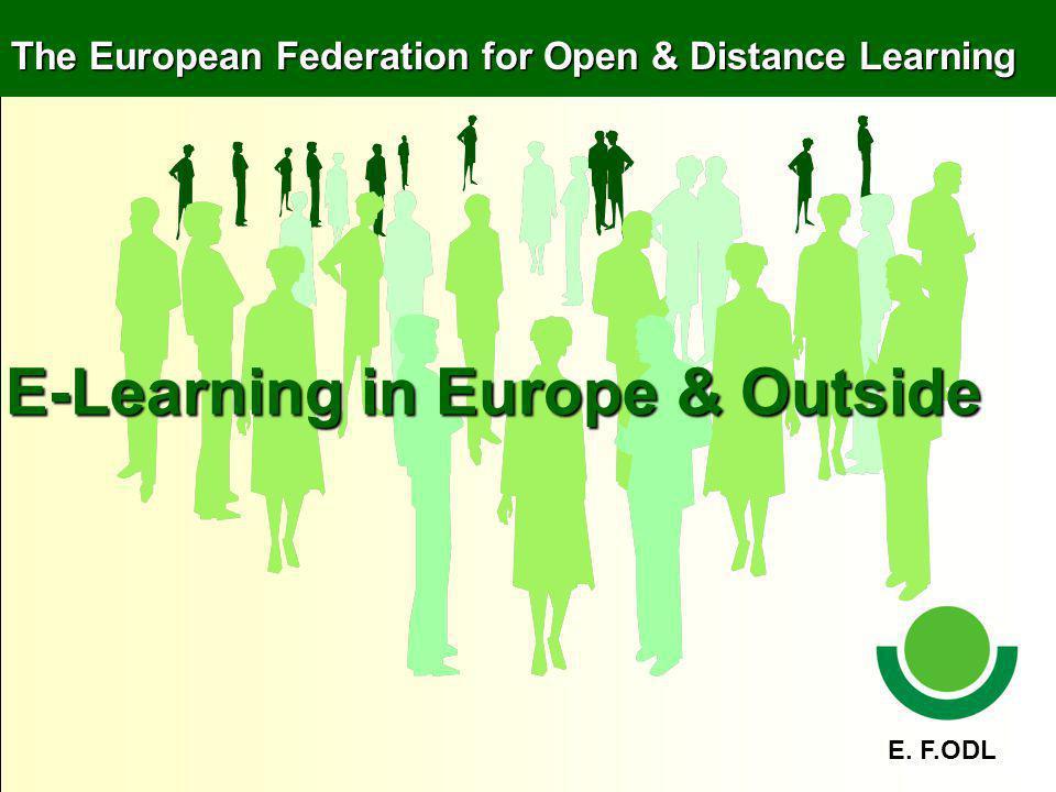 E – learning in the Future Blended learning Gamebased Learning Mobile Learning E – portfolio ….